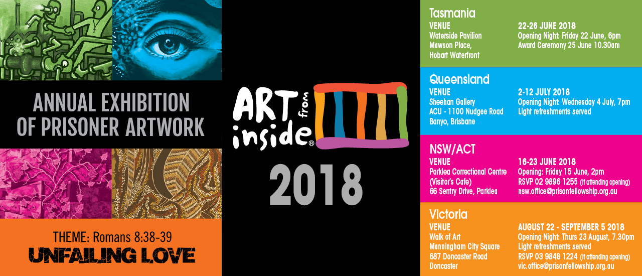 Art From Inside exhibitions coming up!